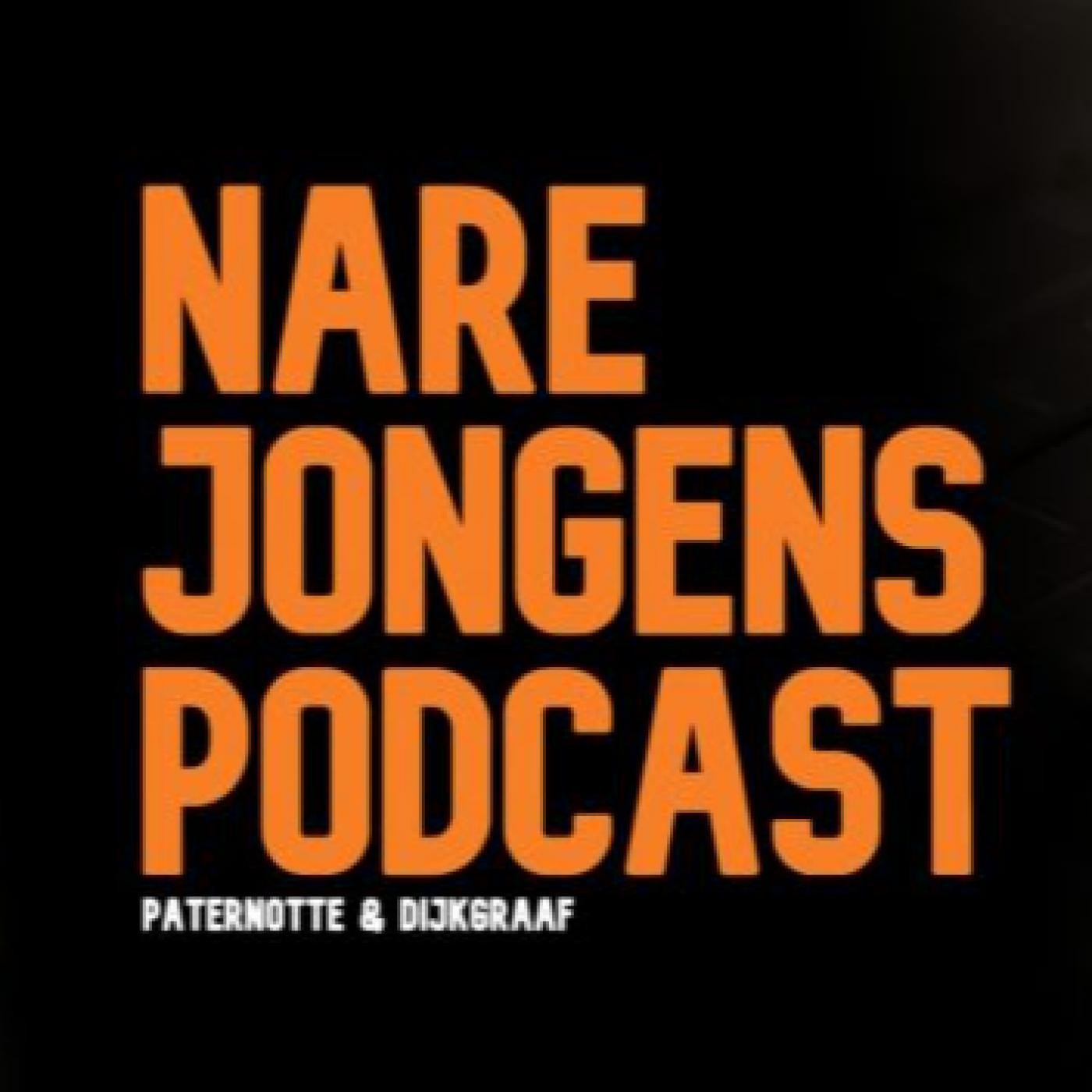 Nare Jongens Podcast logo